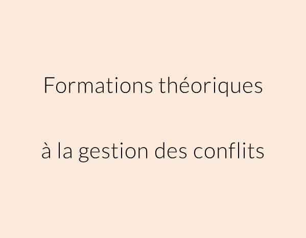 Contenu théorique des formations